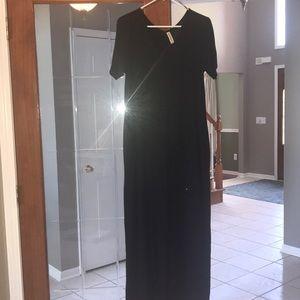 GUC black maxi dress size Small